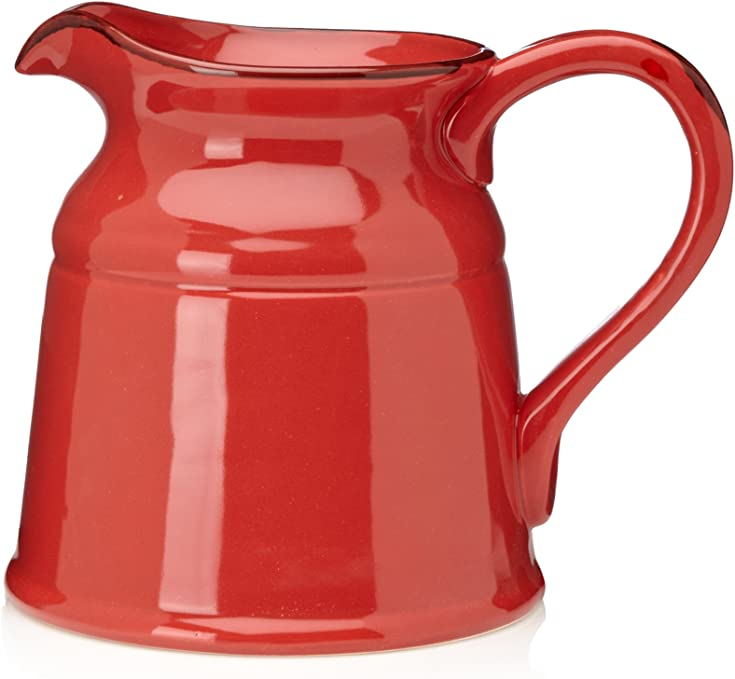 Amazon Com Home Essentials Home Essentials Ceramic Fire Red 8