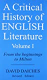 A critical History of English Literature vol-1