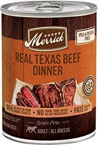 Merrick Grain Free Wet Dog Food Real Texas Beef Recipe - (12) 12.7 oz Cans