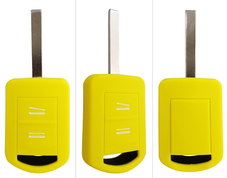 Carkeyplus - Funda para llave de silicona para Opel (Astra Corsa C, Insignia, Meriva A, Zafira, Tigra B)