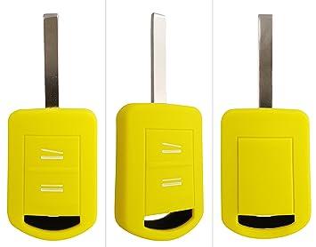 Carkeyplus - Funda para llave de silicona para Opel (Astra Corsa C, Insignia, Meriva A, Zafira, Tigra B): Amazon.es: Electrónica