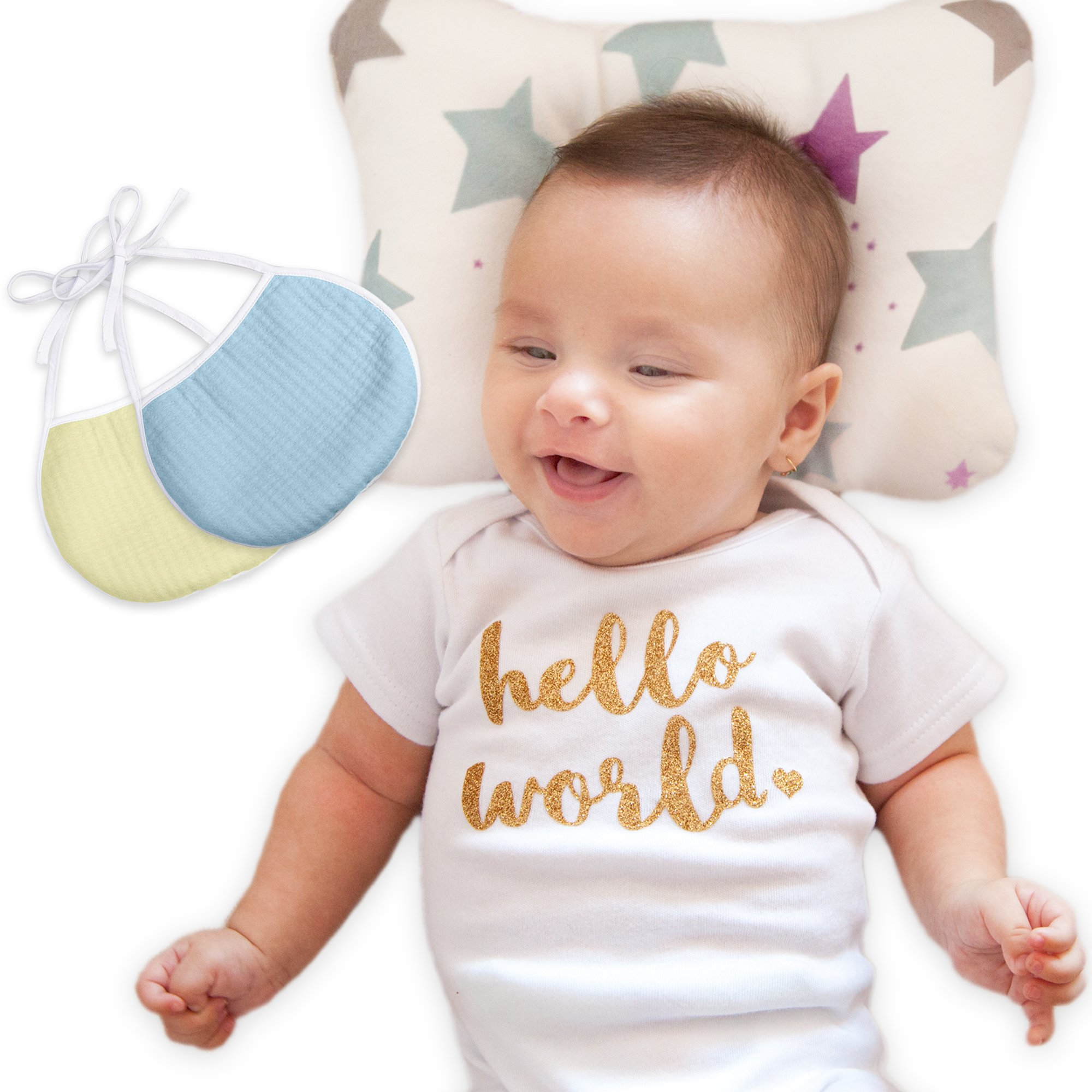 Amazon Com Baby Head Shaping Pillow Bamboo Swaddle