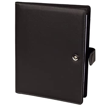 Resume Portfolio Padfolio Genuine Pebble Grain Leather Portfolio With  Replaceable A4 Letter Size Writing Pad,  Leather Resume Portfolio
