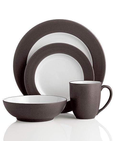 Amazon.com | Noritake 4-Piece Colorwave Place Setting, Chocolate ...