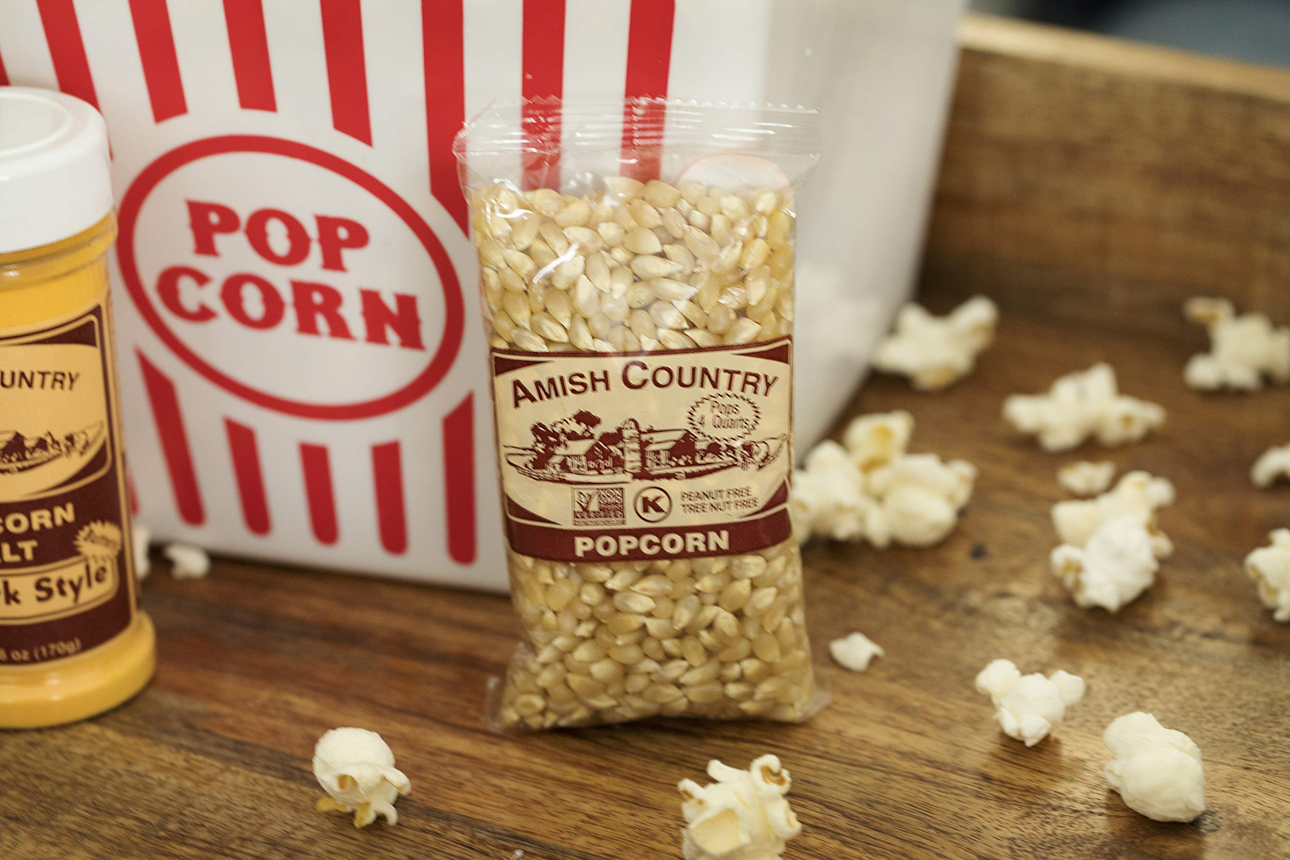 Amish Country Popcorn - Old Fashioned Baby White - (4 Ounce - 24 Bags) - Small & Tender Popcorn - With Recipe Guide by Amish Country Popcorn (Image #4)