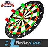 Better Line Magnetic Dart Set with 16 Inch Dartboard and 6 Darts