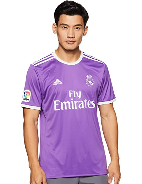 timeless design 0e133 d0823 Adidas Real Madrid 2016/17 Short Sleeve Away Jersey - Adult - Ray  Purple/Crystal White -