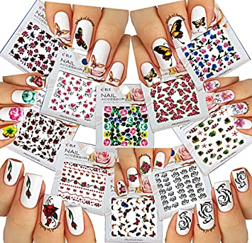 Amazon Nail Art Water Slide Tattoo Stickers Decals Fish