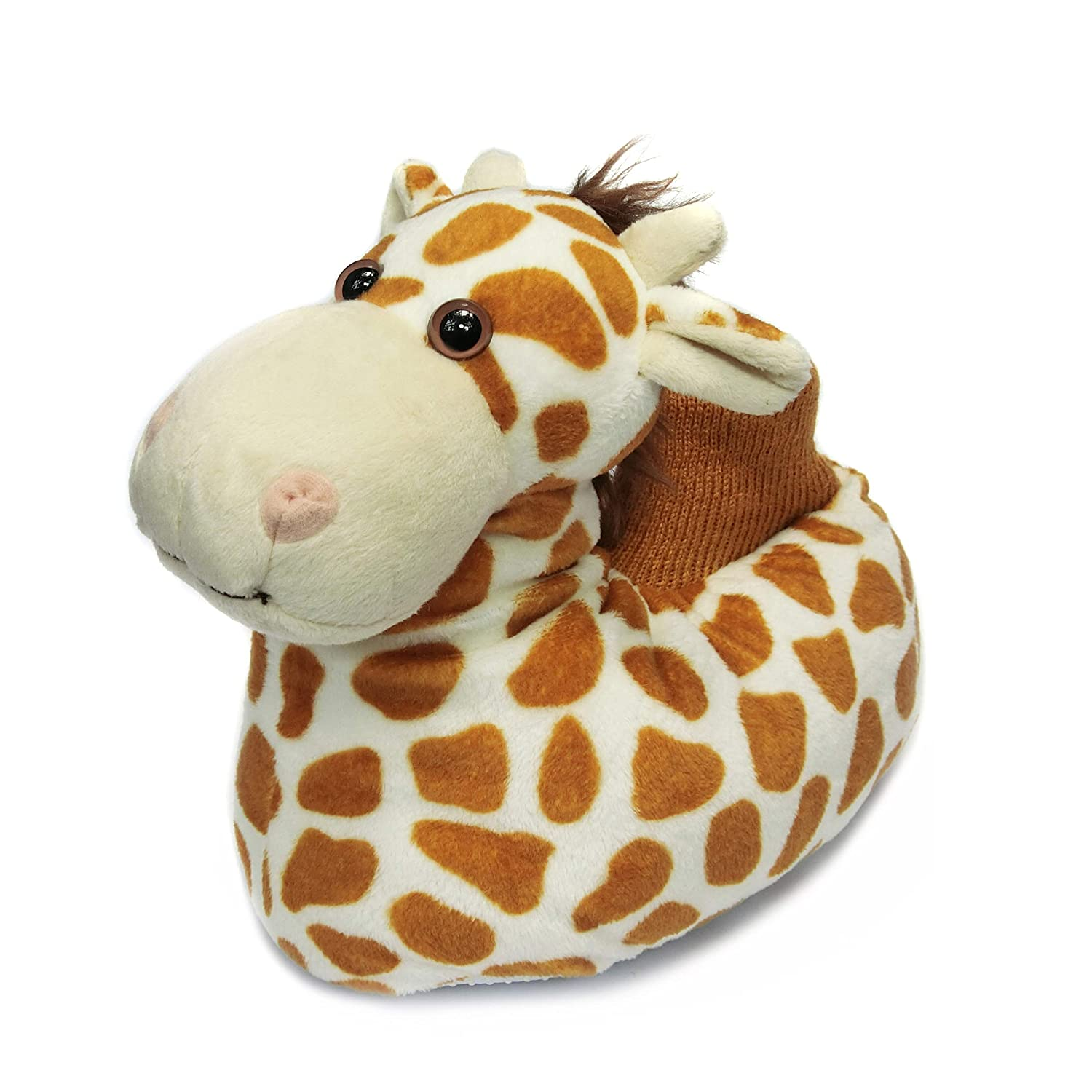 Onmygogo Fuzzy Winter Animal Giraffe Slippers for Toddler and Little Kids AS-K-moose