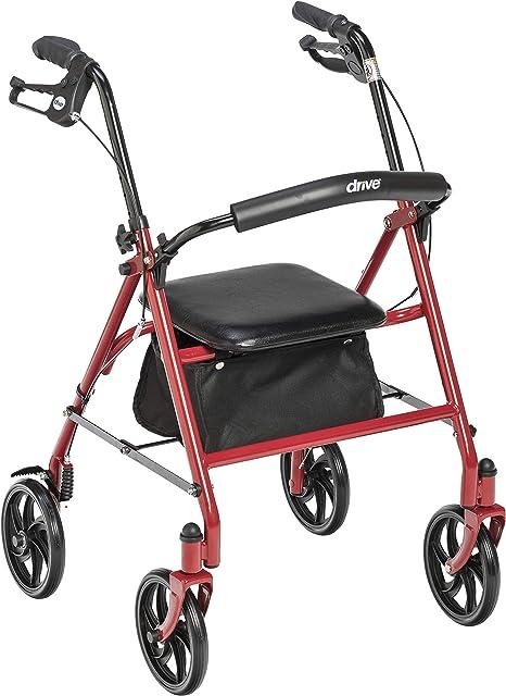 Amazon.com: Unidad médica, andador de cuatro ruedas ...