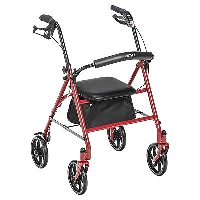 Drive Medical 10257RD-1 Four Wheel Rollator