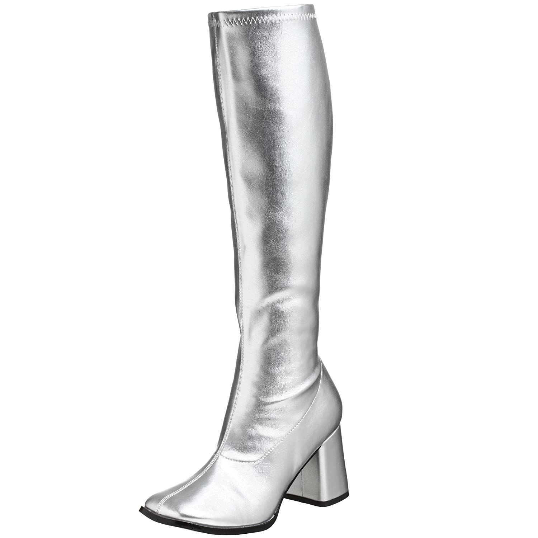 Pleaser Gogo300/yl, Damen Stiefel  39 EU|Silber (Silver)