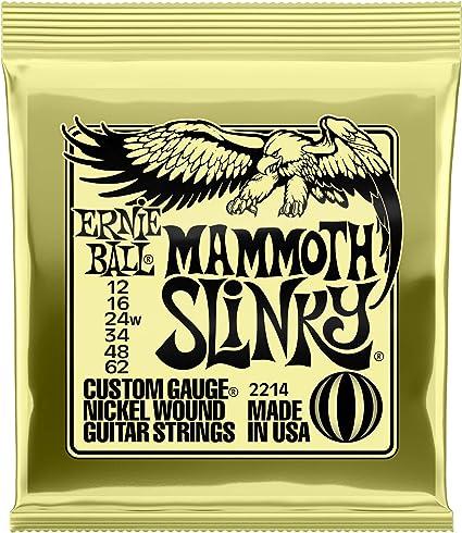Mammoth Slinky Cuerdas Guitarra Eléctrica Nickel Wound - 12-62 ...