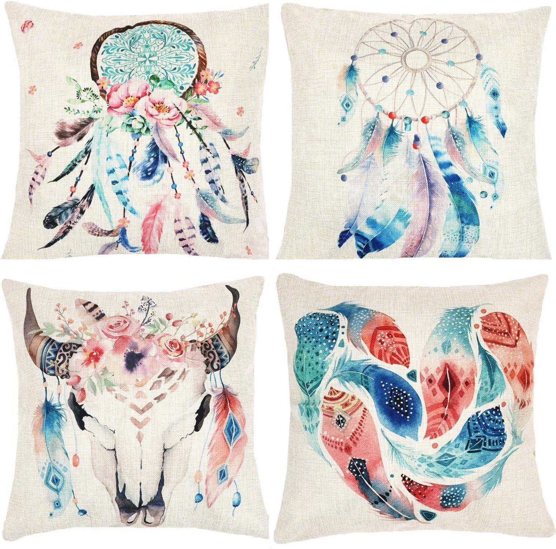 Cushion Covers 45 x 45cm Cotton Dream Catcher Home Sofa Throw Pillow Case