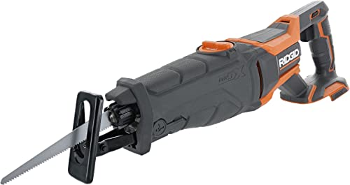 Ridgid R8642 Gen5X 18V Lithium Ion Cordless Reciprocating Saw with Tool-Free Blade Changing, Sight Line Blowing, and Variable Orbital Settings Battery Not Included, Tool Only