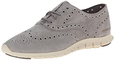 Cole Haan Women's Zerogrand Wing Ox Oxford, Ironstone Suede, ...