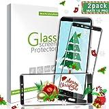 Aonsen Huawei Mate 10 Pro Panzerglas Schutzfolie, [2 Stück] Full Coverage HD Ultra Klar Abdeckung Gehärtetem Glas, 3D Touch Kompatibel, Anti-Kratzer, 9H Härte, Anti-Fingerabdruck, Blasenfreie - Schwar