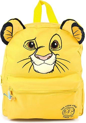 Disney Lion King 3D Simba Cub Face Yellow Backpack