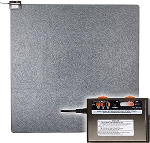 """Woo Warmer Hot Carpet Under Rug Radiant Floor Heater Electric Mat Electric Carpet Electric Heated Area Rug (500 watt 70"""" x 70 inches)"""