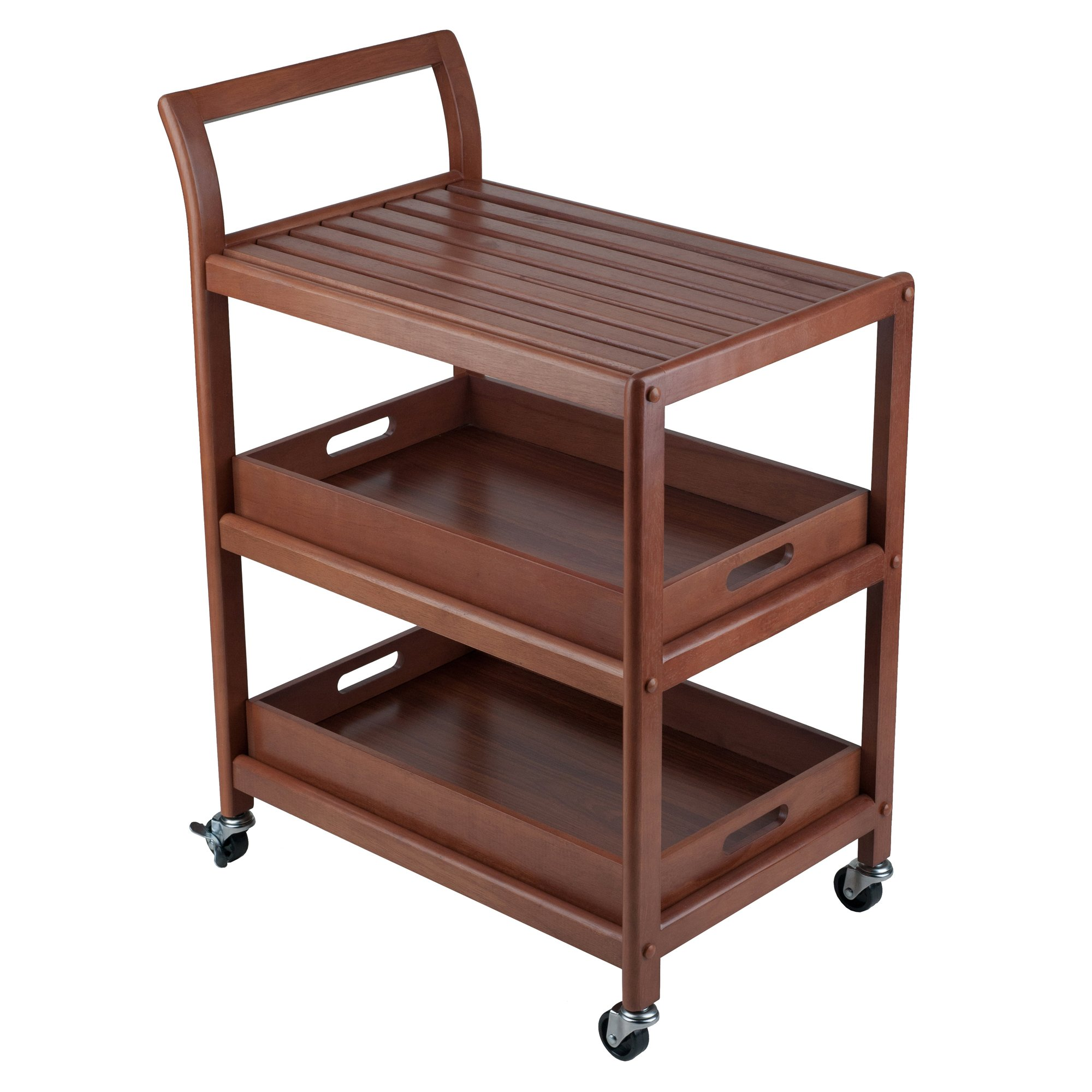 Winsome Wood 94138 Albert Entertainment Kitchen Cart, Walnut by Winsome Wood