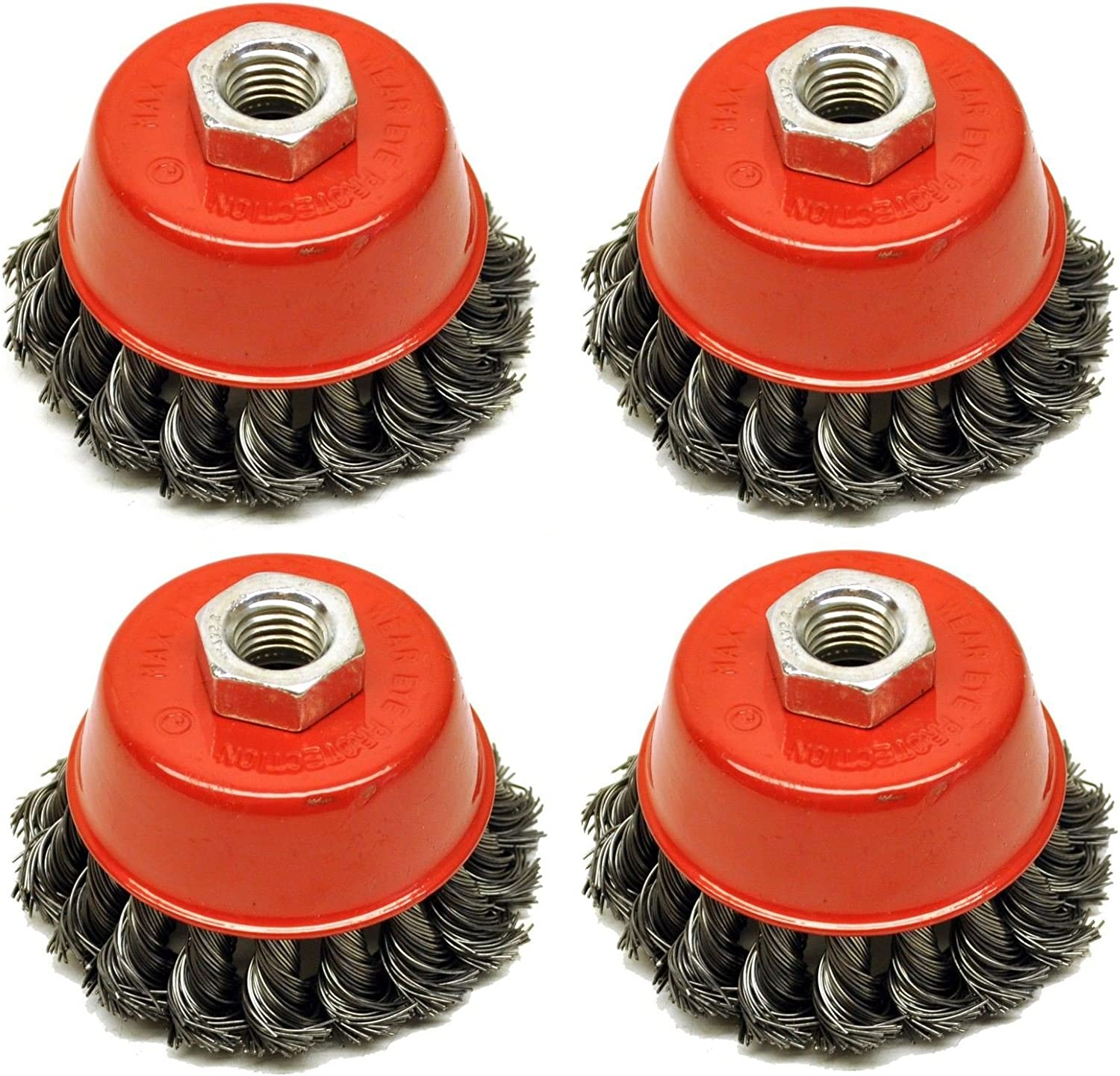"""Wire Cup Brush Wheel 3/"""" for 4-1//2/"""" 115mm Angle Grinder Twist Knot"""