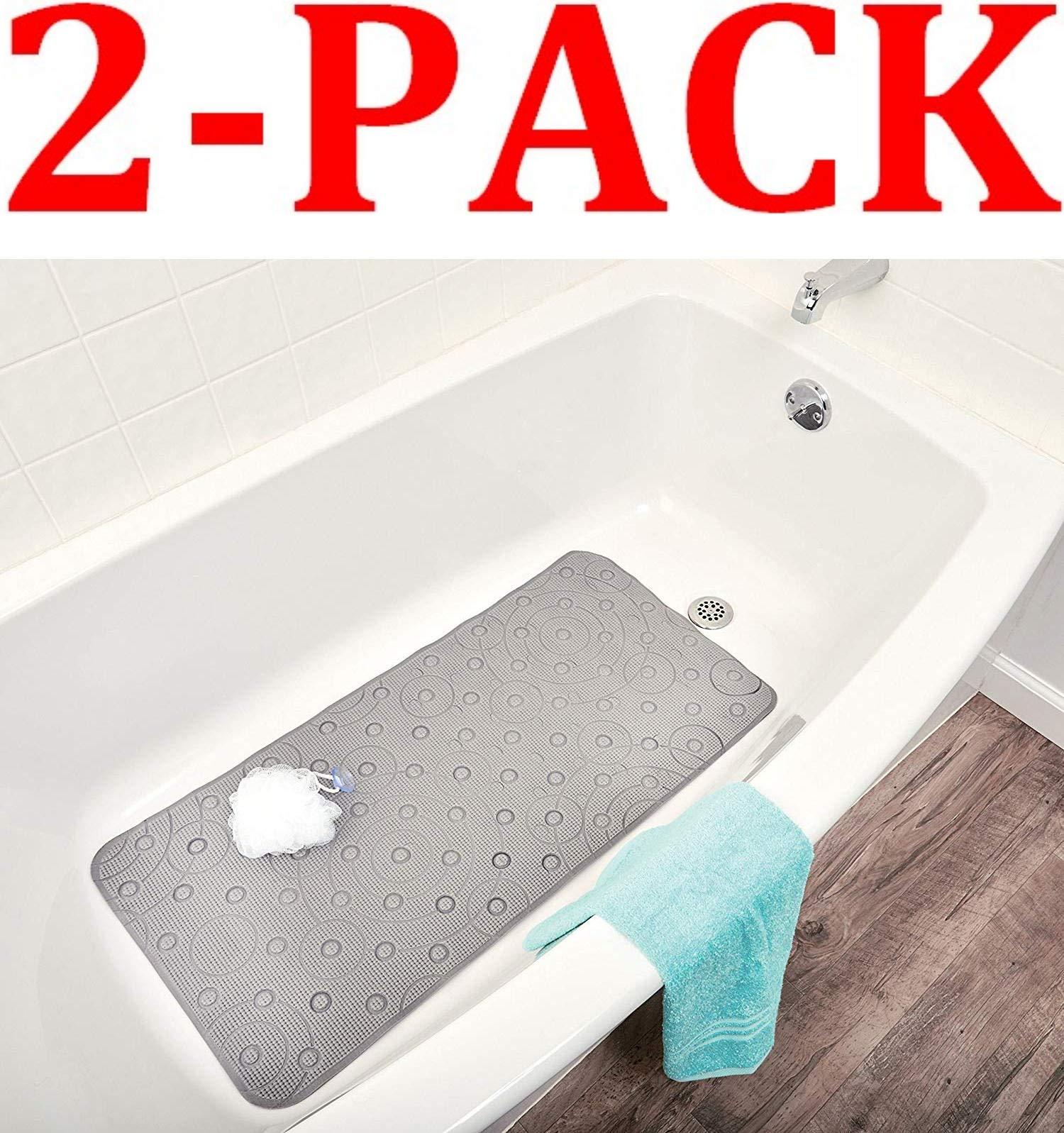 Ginsey Playtex Cushy Comfy Safety Bath Mat, Grey (2-Pack) by Ginsey