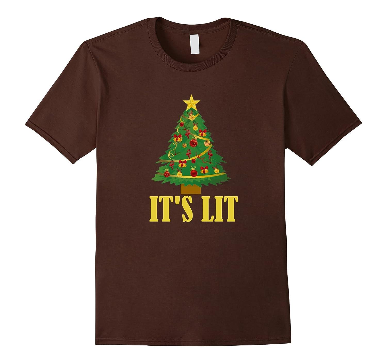 Christmas T-shirt - Its lit Christmas Tree - Goatstee