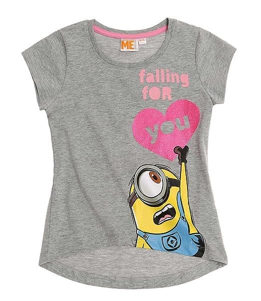 dabacc679 Minions - Camiseta de Manga Corta - para niña  Amazon.es  Ropa y ...