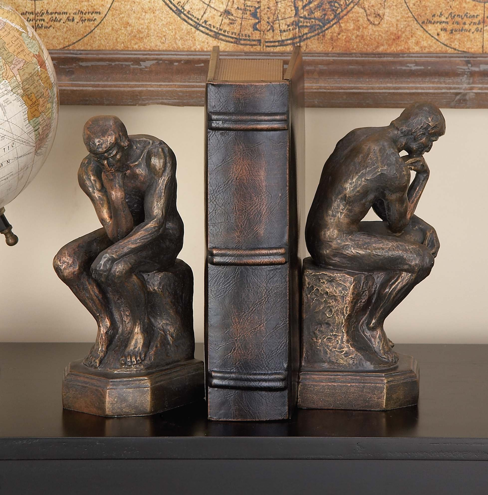 Thinker 75394 Bookends Pair 9''H by Deco 79