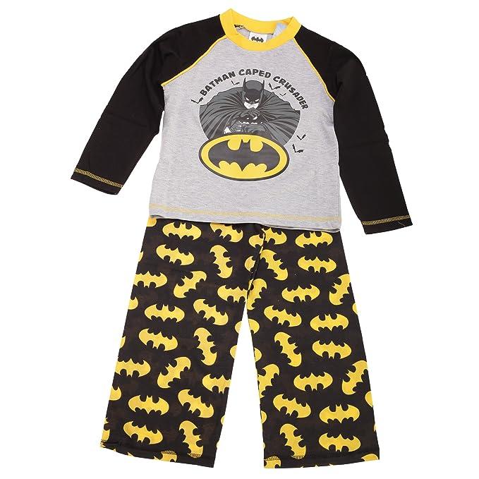 Batman - Conjunto de pijama de Batman para niños (7-8 Años/Negro