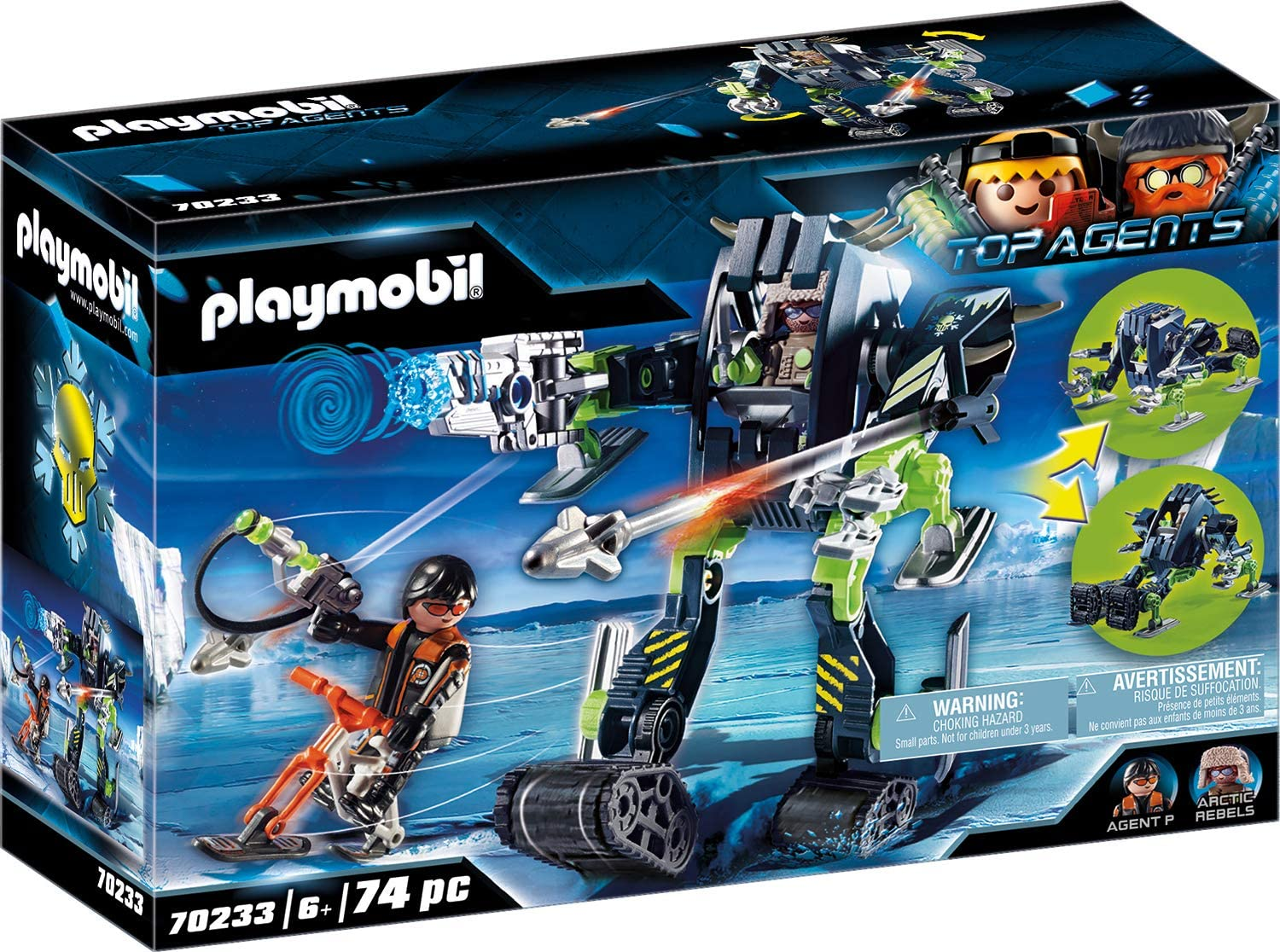 NEU /& OVP PLAYMOBIL®  TOP AGENTS   70235    Arctic Rebels Eisscooter