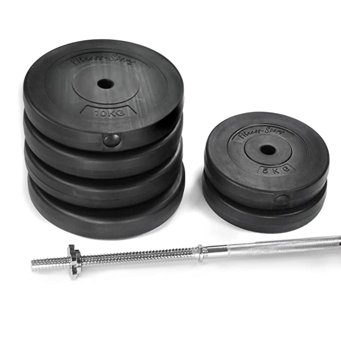 SCHEIBEN für KURZ-//LANGHANTEL 2x 5 kg + PVC mit Zement-//Sandfüllung +