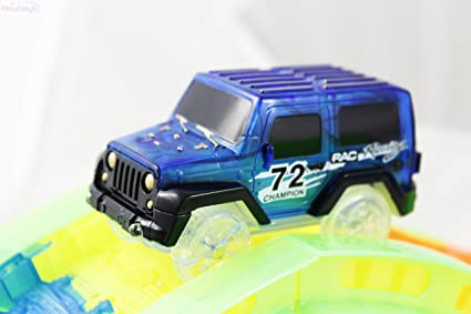 Red or Blue Original Replacement SUV Car Works with Haktoys Glow in the Dark Track Set