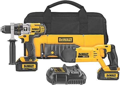 DEWALT 20V MAX Cordless Drill Combo Kit with Reciprocating Saw, 2-Tool DCK292L2