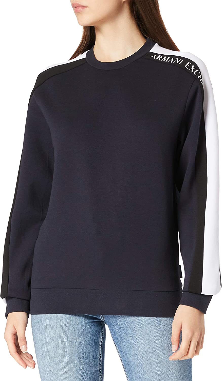 AX Armani Exchange Bombing free shipping San Francisco Mall Men's Sleeve Sweatshirt Pullover Logo Stripe