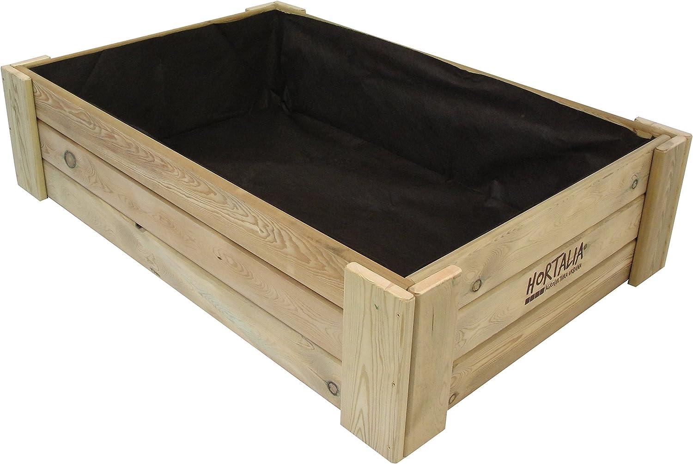 Hortalia Box - Huerto Urbano Cajón de Cultivo, 120 x 30 x 80 cm ...