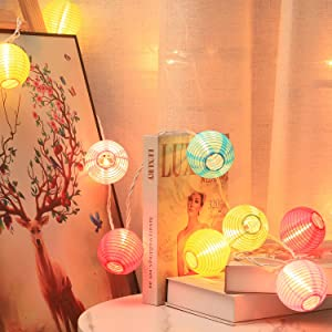 Lantern String Lights, 9.83FT 3Inch UL Listed Lantern Lights for Bedroom, TIGOMOOV Colorful Mini Lanterns Outdoor Hanging Lights for Patio,Home/Garden Decor, Outdoor Party Lights