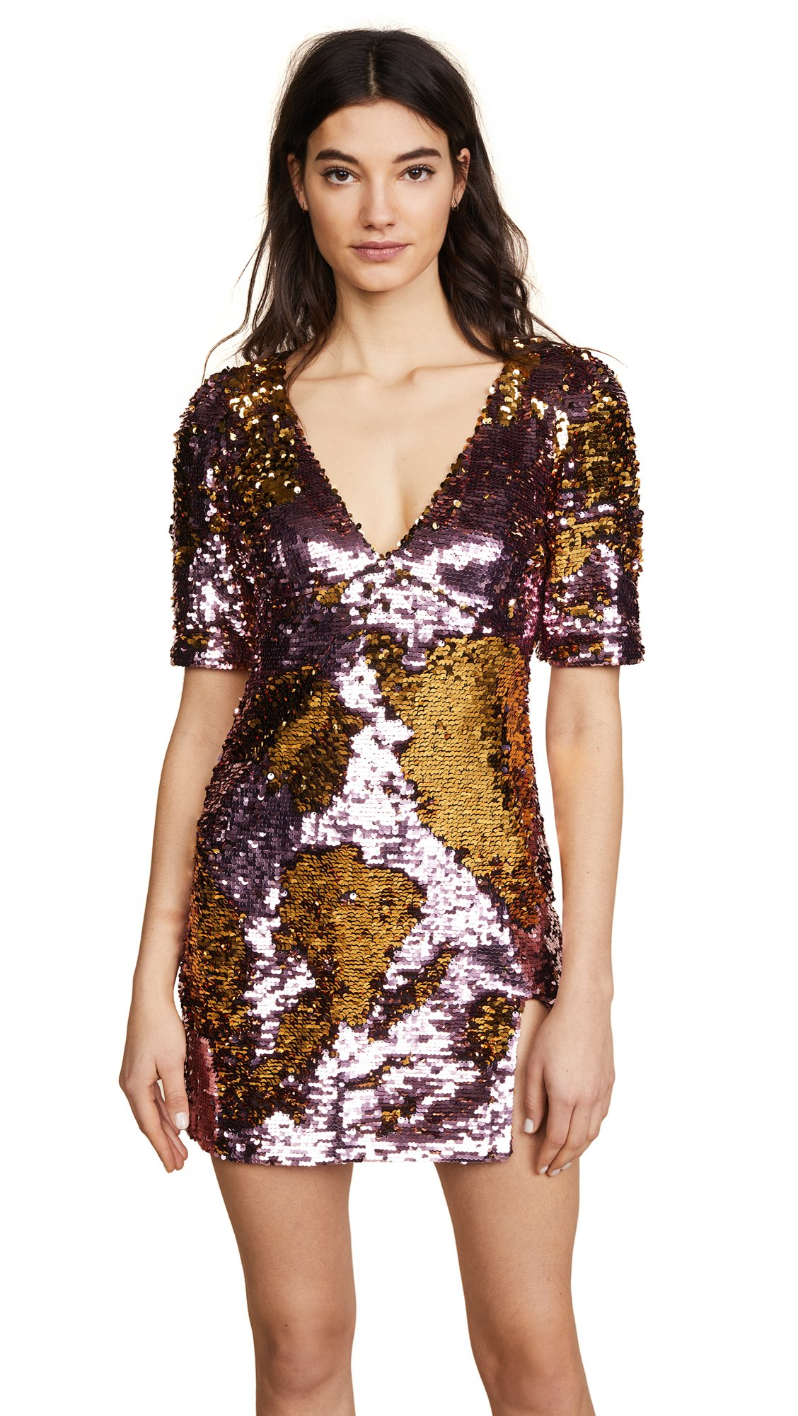 For Love & Lemons Women's Sparklers Party Dress, Dusty Rose, Medium by For Love & Lemons (Image #1)