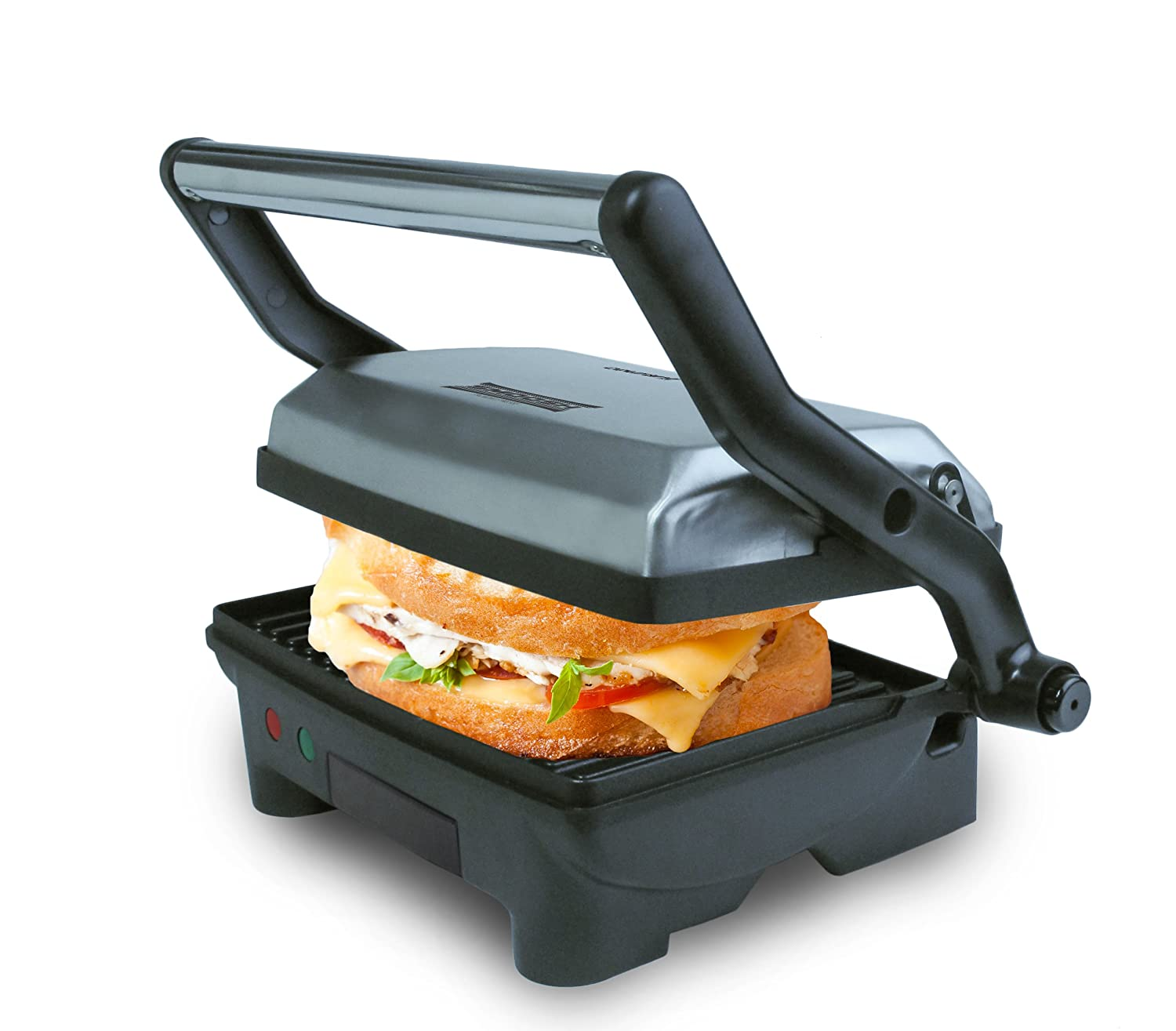 Courant CPP-2100 2-Serving Panini Press and Sandwich Griddler with Non-stick Coated Plates, Indoor grill