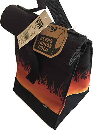 16e009a0f6c Image Unavailable. Image not available for. Color: Vans Lunchbox Insulated  Flames Lunch Sack