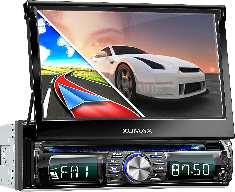 Xomax Xm Dtsbn932 Autoradio Mit Navigation Bluetooth Touchscreen Bildschirm Dvd Cd Player Usb Sd 1din Navigation