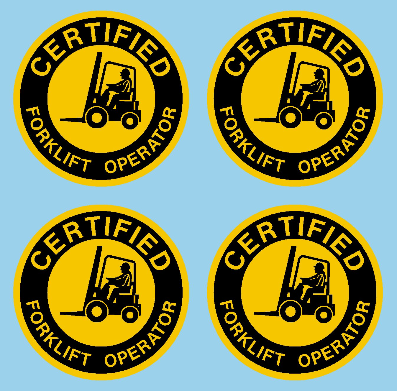 Certified Forklift Operator Hard Hat Hardhat Decal Sticker Placard 2