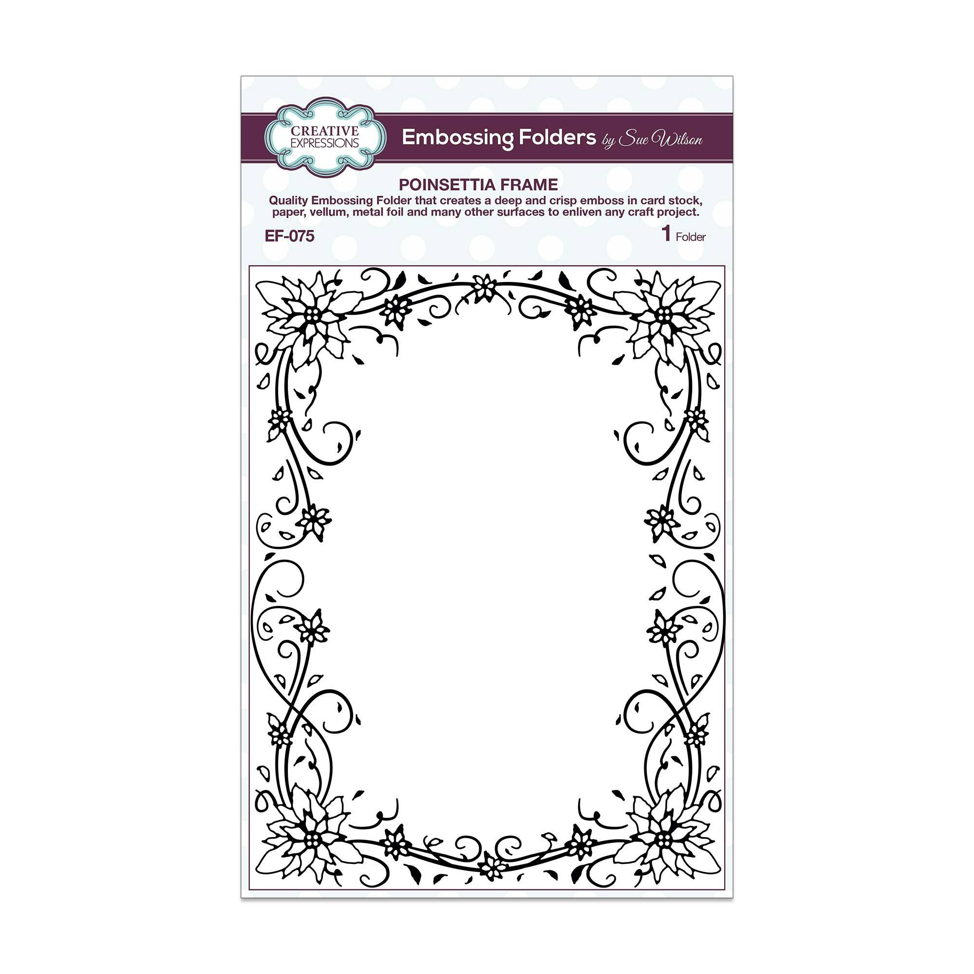 Creative Expressions Embossing Folder - Poinsettia Frame 5 3/4 x 7 1/2 by Creative Expressions