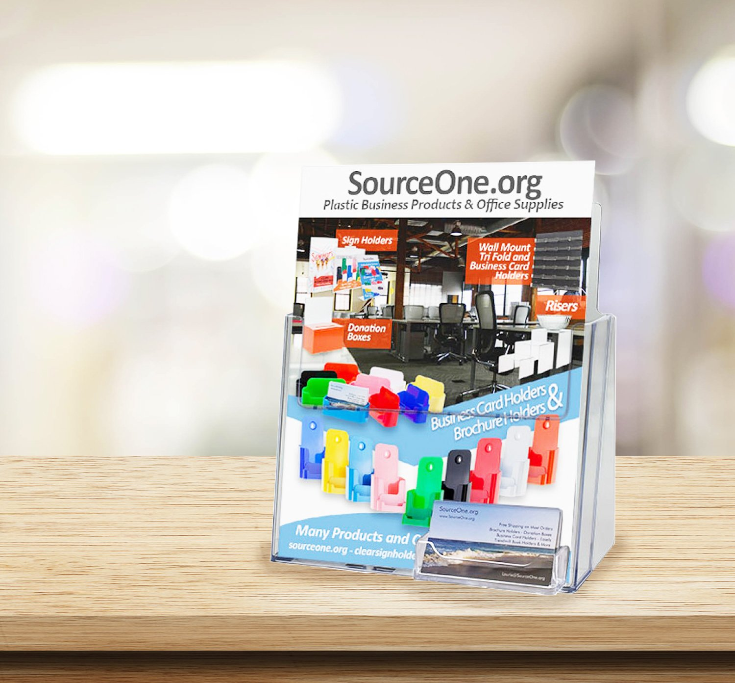 Amazon.com : SourceOne Premium Brochure Holder for 8.5\