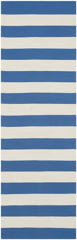 Safavieh La Paz handgewebter Teppich, MTK712C, Blau   Weiß, 68 X 213  cm