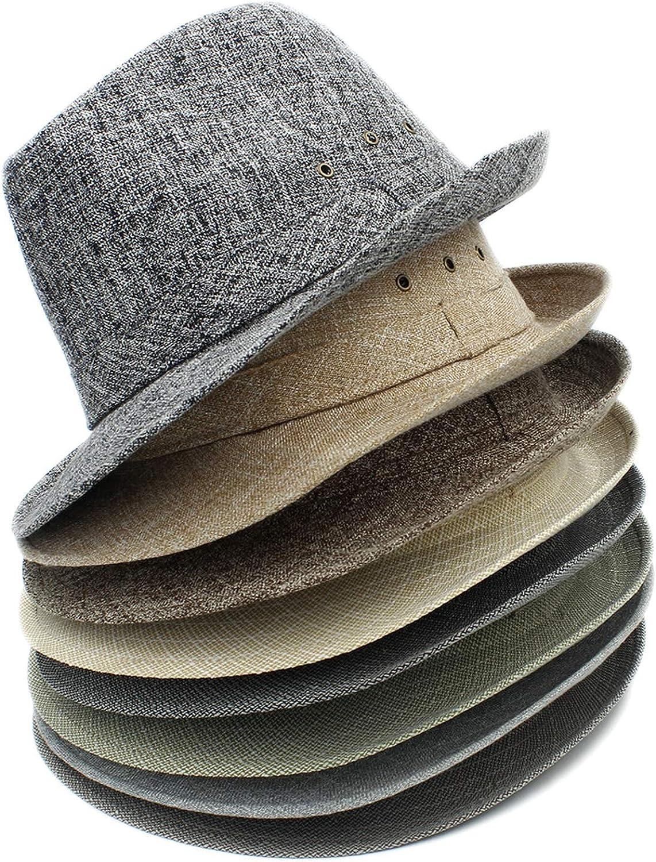 Women Men Summer Sun hat Beach Fedora hat Sunhat Trilby Gentleman Panama Hat Gangster Cap