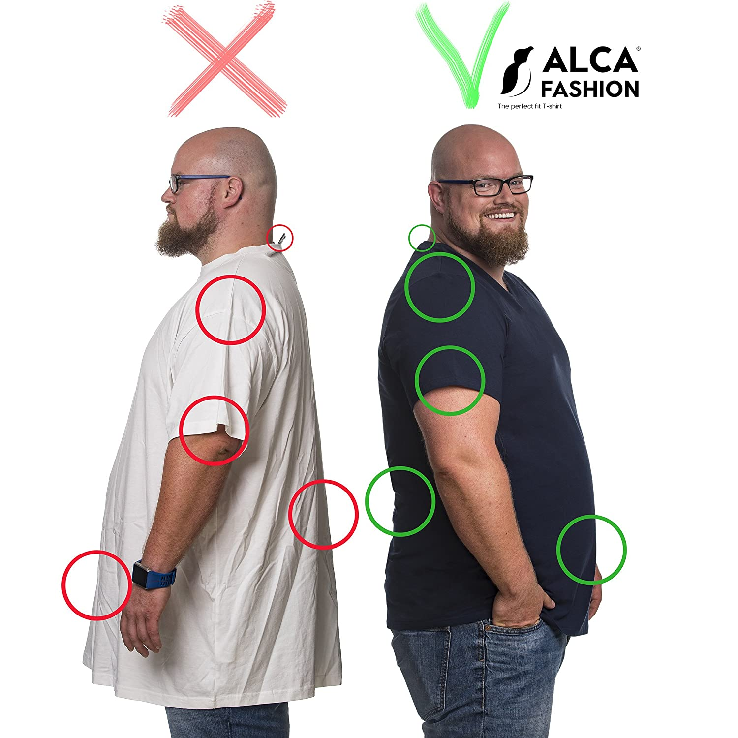 for a Larger Waist Size Alca Classic T-Shirt from XXL-B to 8XL-B