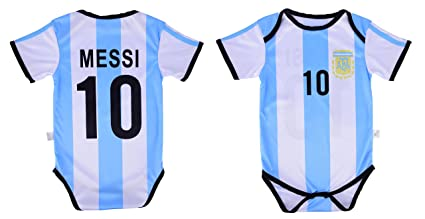2bfc6c5e2 Leo Messi #10 Argentina Soccer Jersey Baby Infant & Toddler Onesie Romper  Premium Quality (