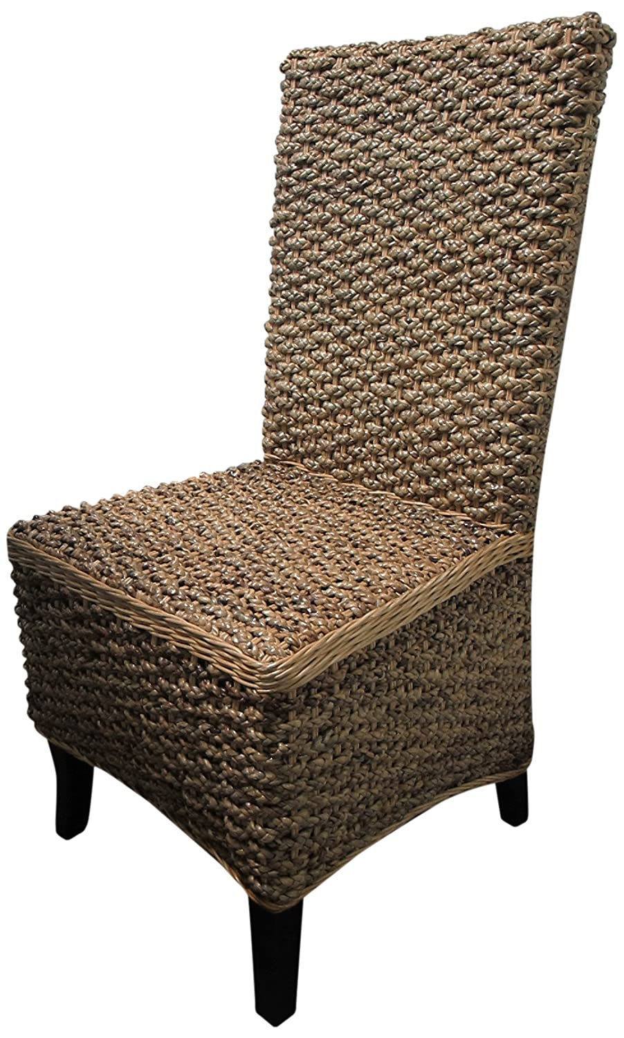 Amazon.com   D Art Collection 6 Piece Mahogany Seagrass Dining Chair Set    Chairs