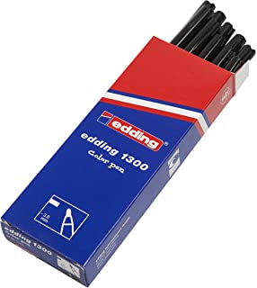 edding 1200-002 - Rotulador con punta de fibra, 10 unidades, color ojo: Amazon.es: Oficina y papelería